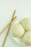 蒸汽小圆面包 免版税库存照片