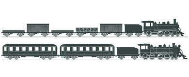 蒸汽引擎例证   库存图片