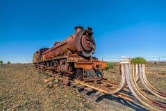 蒸汽引擎在线尽头 库存照片