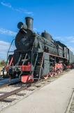 蒸汽引擎活动ER类型Eh2在Voroshilovgrad, Brjanksk, 305个单位builded 1934-1936,被显示在技术的AvtoVAZ 免版税库存照片