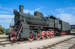 蒸汽引擎活动ER类型Eh2在Voroshilovgrad, Brjanksk, 305个单位builded 1934-1936,被显示在技术的AvtoVAZ 库存照片