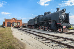 蒸汽引擎活动ER类型Eh2在Voroshilovgrad, Brjanksk, 305个单位builded 1934-1936,被显示在AvtoVAZ技术M 库存图片