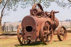 蒸汽拖拉机1914年 库存图片