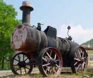 蒸汽拖拉机 免版税库存照片