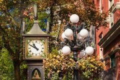 蒸汽时钟在Gastown区,温哥华 库存照片