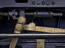 蒸汽机器的力量-活动轮子和机制 免版税图库摄影