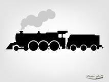 蒸汽机车剪影图形设计传染媒介  免版税图库摄影
