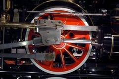 蒸汽机车司机轮子 库存图片
