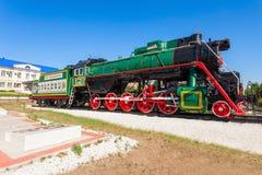 蒸汽机车在乌兰乌德 图库摄影