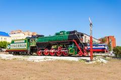 蒸汽机车在乌兰乌德 免版税库存照片