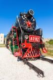 蒸汽机车在乌兰乌德 免版税库存图片