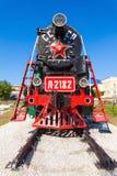 蒸汽机车在乌兰乌德 库存图片