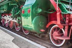 蒸汽机车在博物馆 图库摄影