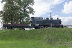 蒸汽机车在博物馆 库存照片