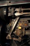 蒸汽机车工程详细资料 免版税库存照片