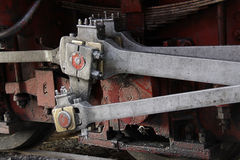蒸汽机车柱塞  免版税库存图片
