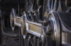 蒸汽机车轮子曲柄 库存照片