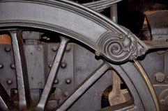 蒸汽机车轮子 免版税库存照片