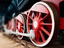 蒸汽机车轮子 免版税图库摄影