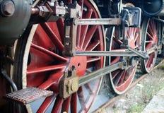 蒸汽机车轮子 免版税库存图片
