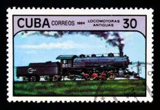 蒸汽机车,古色古香的机车serie,大约1984年 免版税库存图片