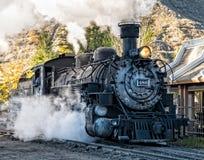 蒸汽机车,杜兰戈,科罗拉多 免版税库存图片