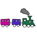 蒸汽机车 库存例证