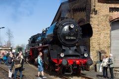 蒸汽机车Borsig 03 2155-4 (DRG类03) 免版税库存照片