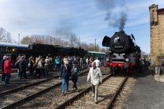 蒸汽机车Borsig 03 2155-4 (DRG类03) 库存照片