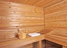 蒸汽浴木头 图库摄影