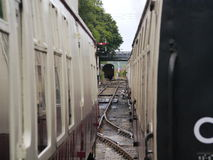 蒸汽火车支架 库存照片