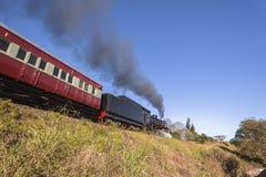 蒸汽火车旅游业 图库摄影
