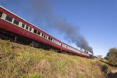 蒸汽火车旅游业 免版税库存图片