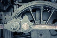 蒸汽火车机器细节  免版税库存图片