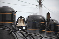 蒸汽火车的响铃 免版税库存照片