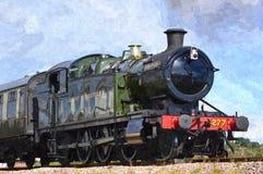 蒸汽火车赫拉克勒斯 免版税库存图片