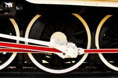 蒸汽火车轮子 免版税图库摄影
