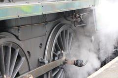 蒸汽火车轮子 库存照片