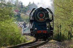 蒸汽火车,捷克共和国 免版税库存照片