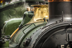 蒸汽火车细节 库存照片