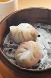 蒸汽猪肉饺子 库存图片