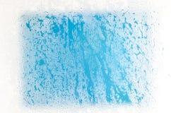 蒸汽的结冰的玻璃 免版税库存图片