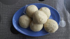 蒸汽豆小圆面包 库存图片