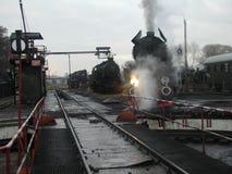 蒸汽铁路火车 库存图片