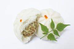 蒸汽饺子 免版税库存图片