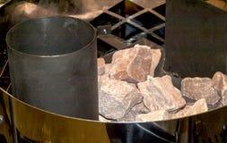 蒸汽浴的熔炉 免版税库存照片