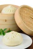 蒸的中国饺子 库存照片