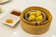 蒸的中国饺子 免版税图库摄影