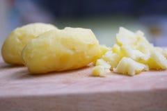 蒸的土豆 库存照片