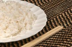 蒸的牌照米 免版税库存图片
